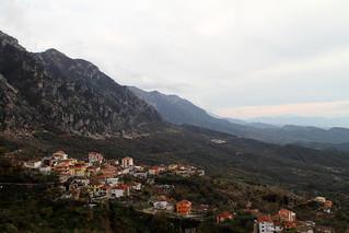 View from Krujë (Kruja) Castle towards Tiranë (Tirana)