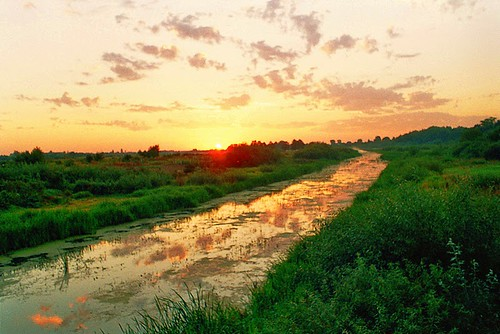 sky sun color nature yellow clouds sunrise river belarus