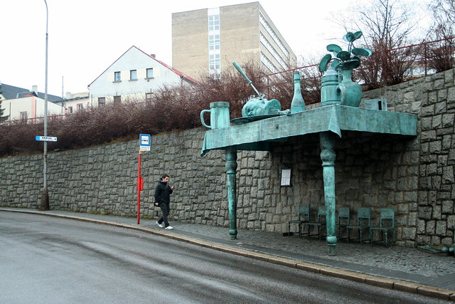 Bus stop by David Černý