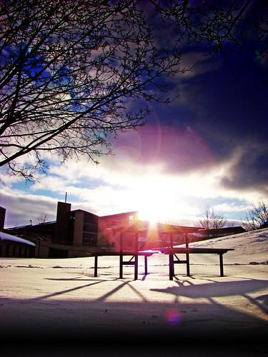 winter snow college wisconsin university greenbay uwgb