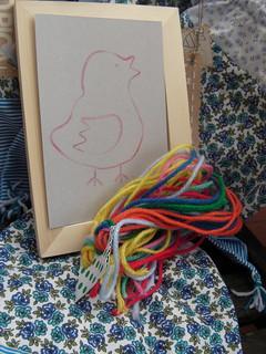 Bordar em cartão (cardboard embroidery kit)