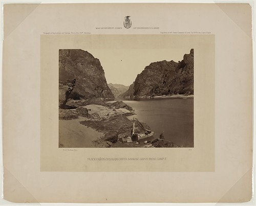 Black Cañon, Colorado River, looking above from camp 7 (LOC)