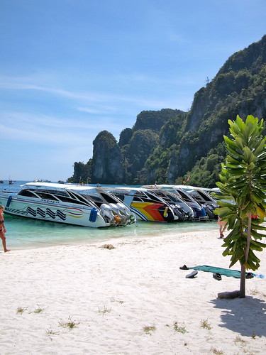 The beach of Koh Phi Phi Don
