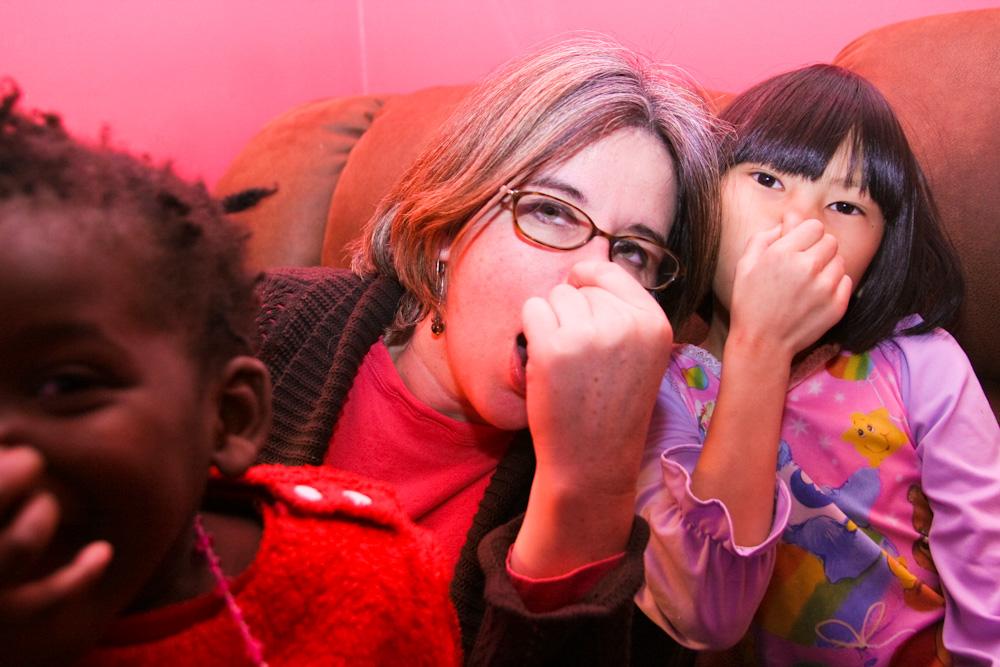 Caroline, Qiqi, Lourdie Holding Their Nose 2-12-10