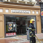 Burger King In Flames