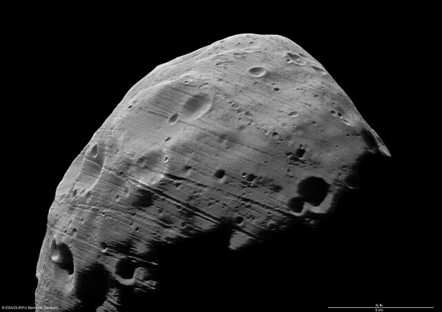 Closest view of martian moon Phobos to date