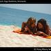 Sisters on the beach, Cayo Sombrero, Venezuela