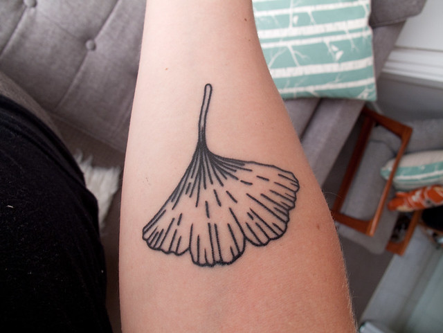 ginkgo tattoo from my perspective flickr photo sharing. Black Bedroom Furniture Sets. Home Design Ideas