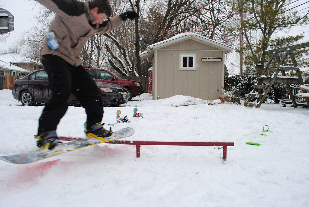 Backyard Snowboarding: Avery Wilcox