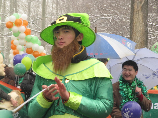 Chinese Irish leprechauns - St Patricks Day Parade ...