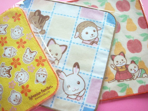 Kawaii Cute Sylvanian Families Mini Towel Collection Japan