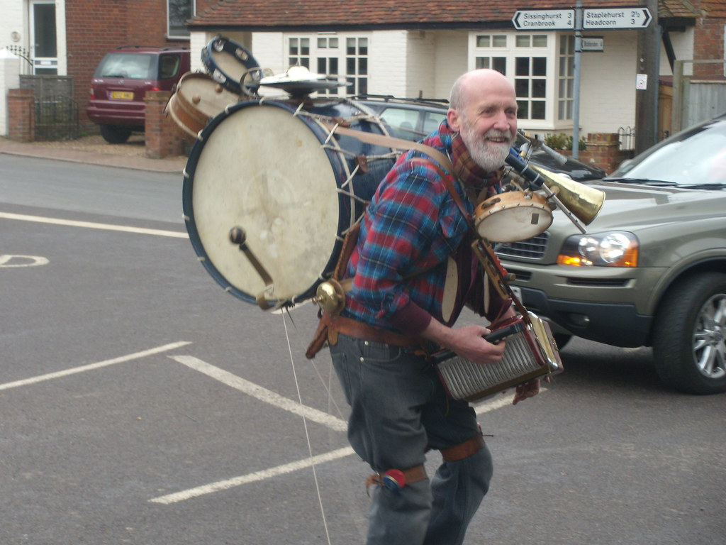 One man band Lunch coincided with the Frittenden Festival Staplehurst to Headcorn