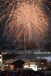 Fireworks above Corvara (New Year's Eve)