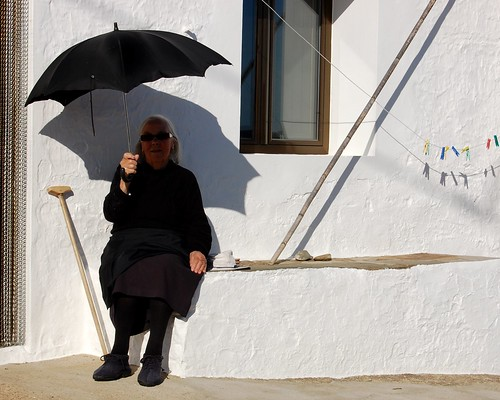 .the lady with the umbrella.
