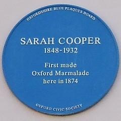 Photo of Sarah Cooper blue plaque