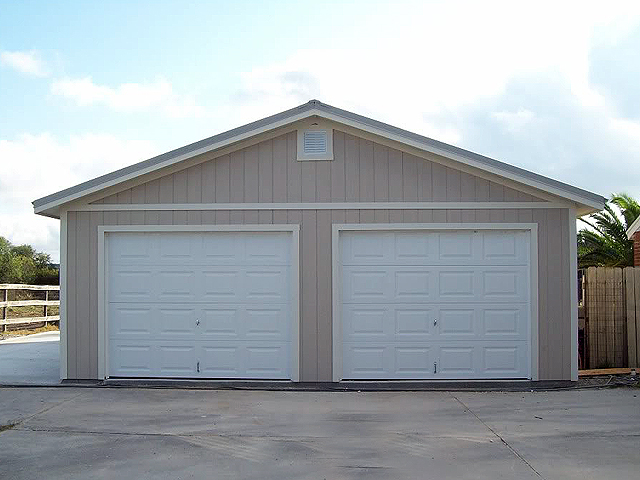 Organizer shed foundation options for Garage 24x30