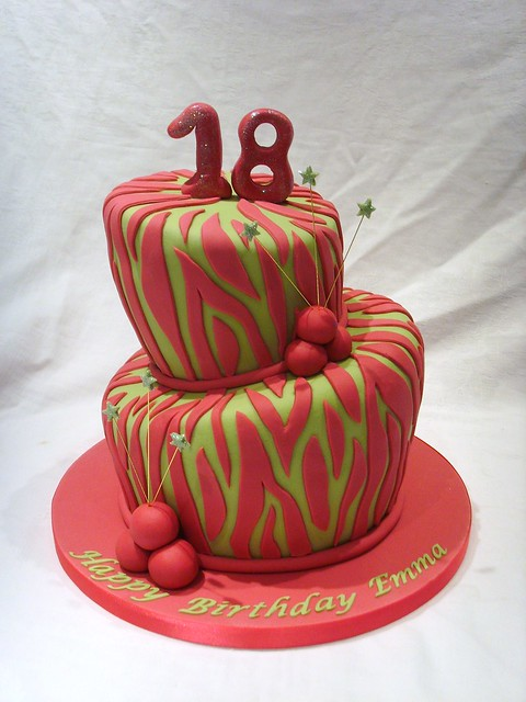 Green Zebra Cake http://www.flickr.com/photos/customcakeshop/4615108582/