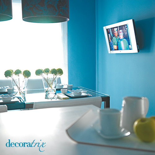 Paredes pintadas en azul turquesa a photo on flickriver for Pintura color turquesa