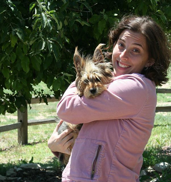 Gigi and her dog