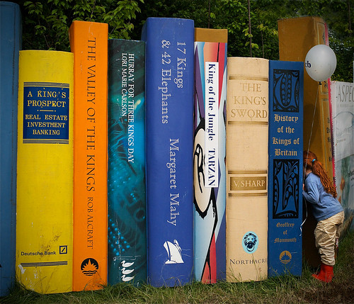 Head in a book (away at Hay on Wye Book Festival)