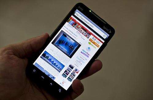 Flapyinjapan en el HTC EVO 4G
