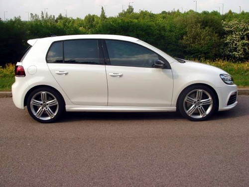 Candy White VW Golf R