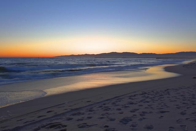 Dockweiler Beach sunset HDR