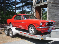 automobile, automotive exterior, wheel, vehicle, automotive design, first generation ford mustang, bumper, ford, antique car, classic car, land vehicle, luxury vehicle, muscle car, sports car,