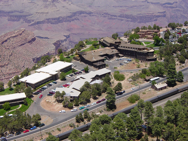D0727 Grand Canyon_Aerial of South Rim Historic District