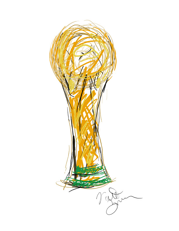 World Cup Trophy My Sketch A Sketch I Created In Honor O Flickr