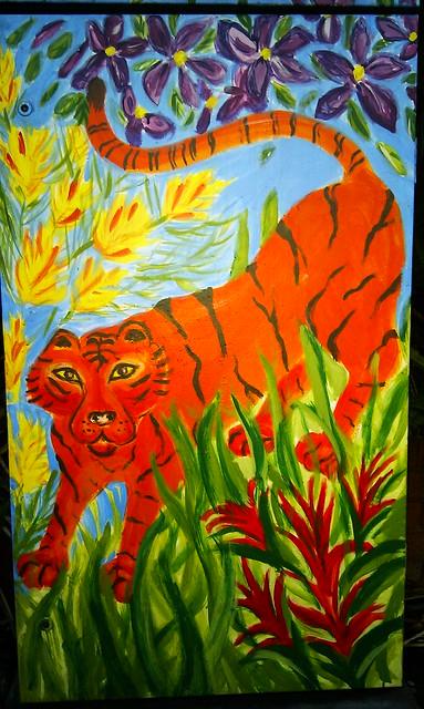 Tiger - Colourful Sydney Street Art