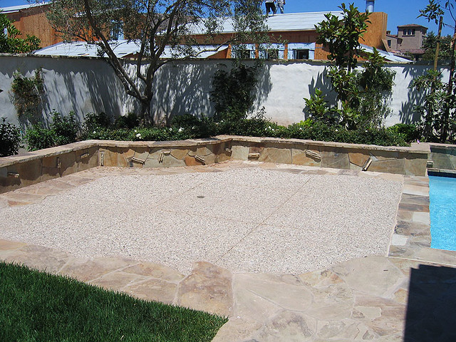 Decorative Concrete Pool Deck With Natural Stone Flickr