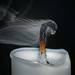 Smoke Droplets With Refraction by Sea Moon