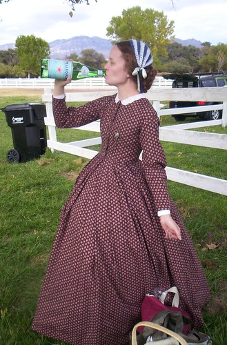 Brown print dress