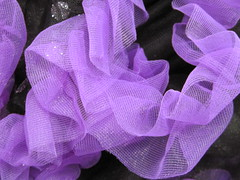 Purple and Black Chiffon