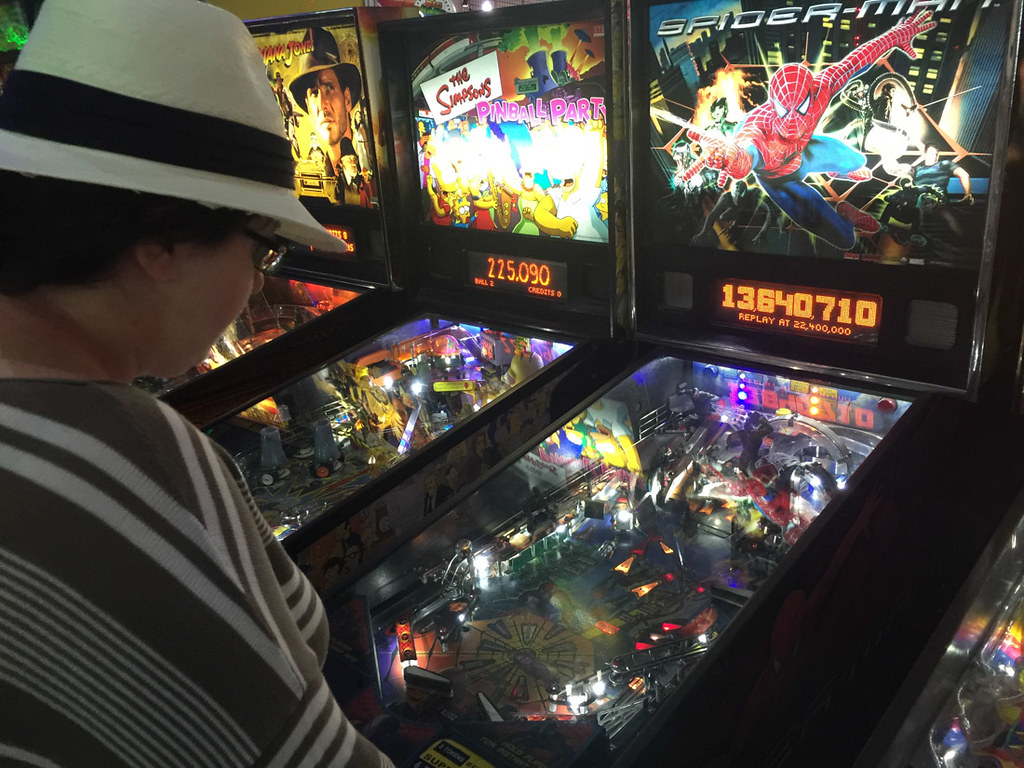 Melissa Playing Pinball