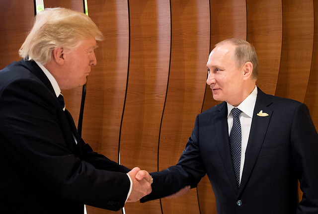 Trump and Putin first meeting