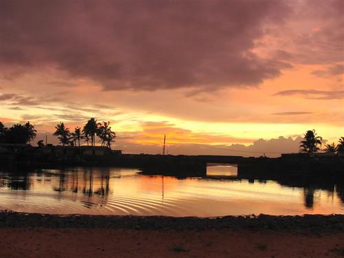 Lunawa Lagoon Sun Set  | Sri Lanka