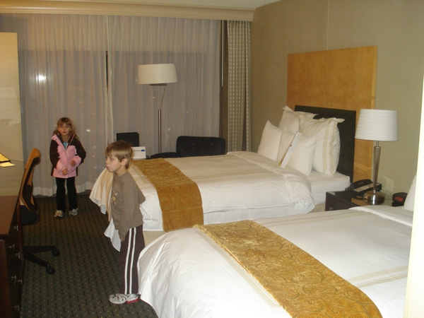 Our room at the Marriott Downtown Chicago - Suite on top floor - 46th floor