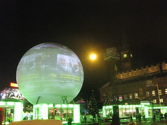 VIDEO INSTALLATION OF THE CRITICAL RUN / CITY HALL SQUARE COPENHAGEN