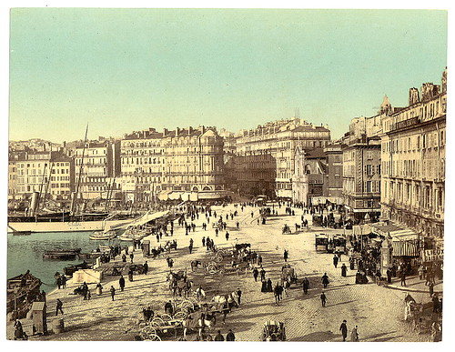 [Old Harbor (Vieux-Port), Marseille, France, with Hotel Beauvau at right, 1890] (LOC)
