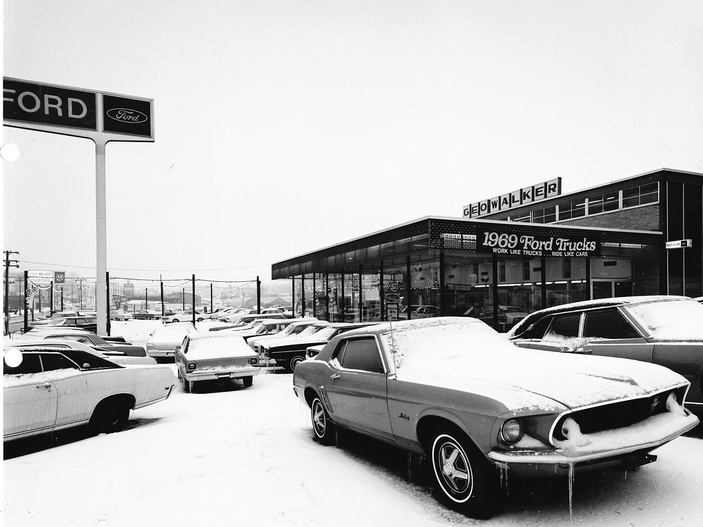 Two Pictures of a dealership in late 1969 - Page 3 - Classic Cougar ...