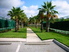 Tennis courts at Seminole Isle