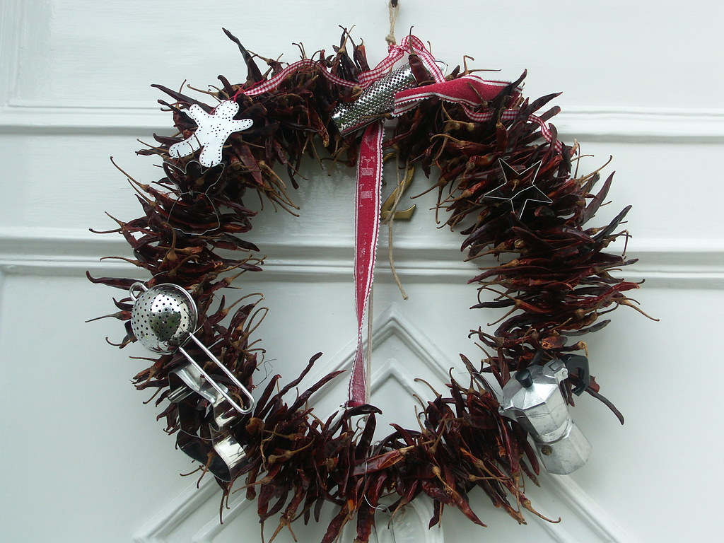 A cook's (make do and mend) wreath