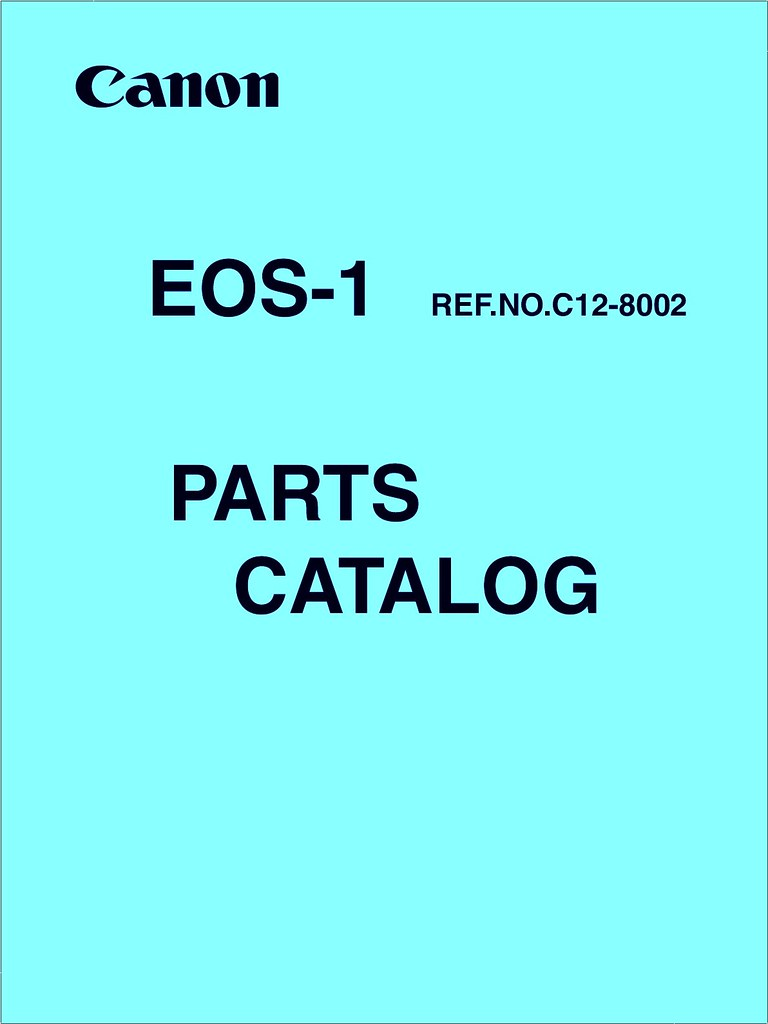 Canon Eos 1 Parts~Catalog 1989