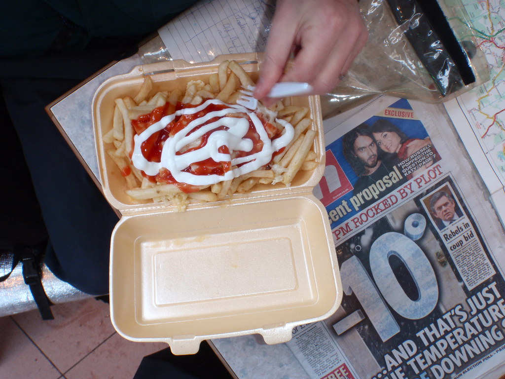 Walking a lap of the M25 - chips and news of cold weather