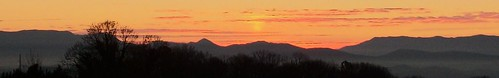 winter mountains sunrise steam