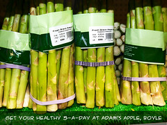 Asparagus at Adam's Apple
