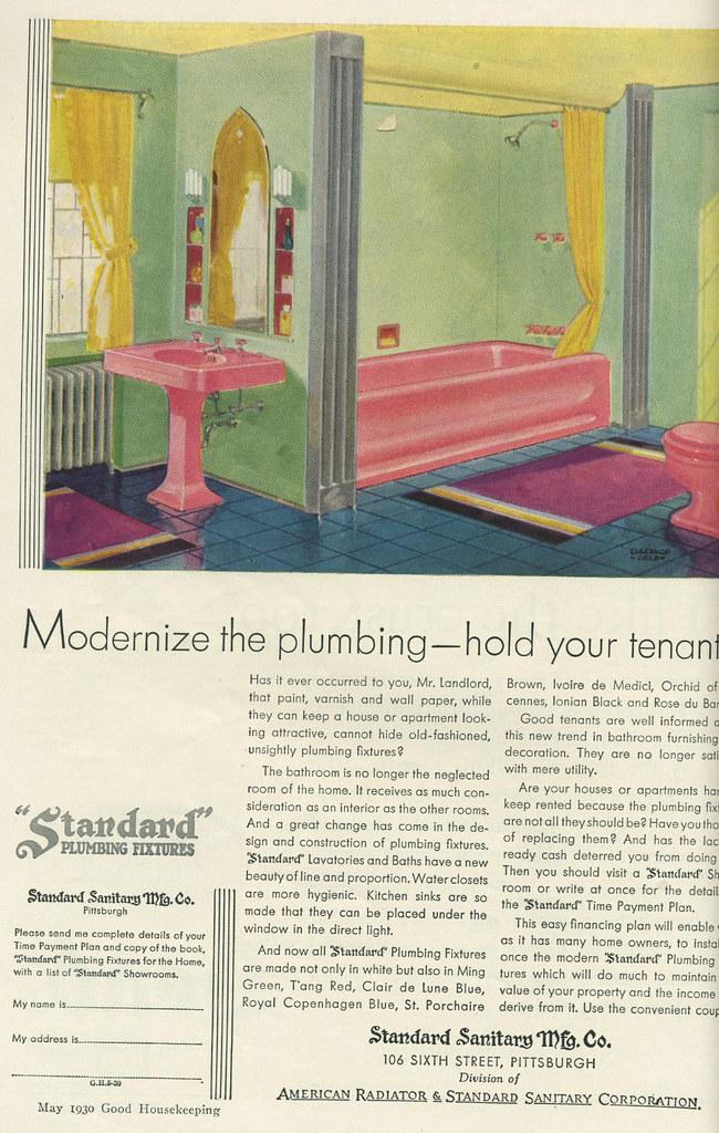 plumbing ad 1930