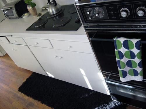 Black and white galley kitchen flickr photo sharing for Black and white galley kitchen